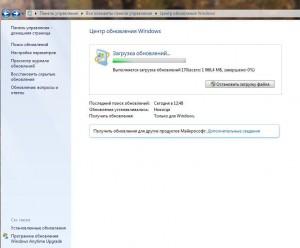 Обновление системы Windows