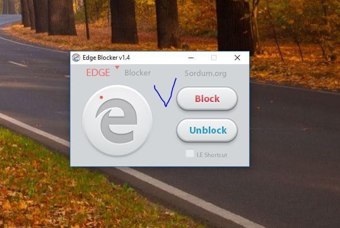Edge браузер заблокирован