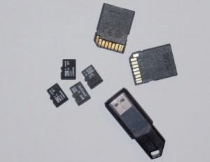карты памяти, флешка, адаптеры