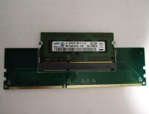 переходник c DDR3 от ноутбука (SODIMM) на DDR3 в настольный компьютер
