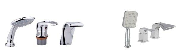 Каскадные смесители для ванной с душем