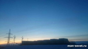 Природа Севера Зима, линии электропередач
