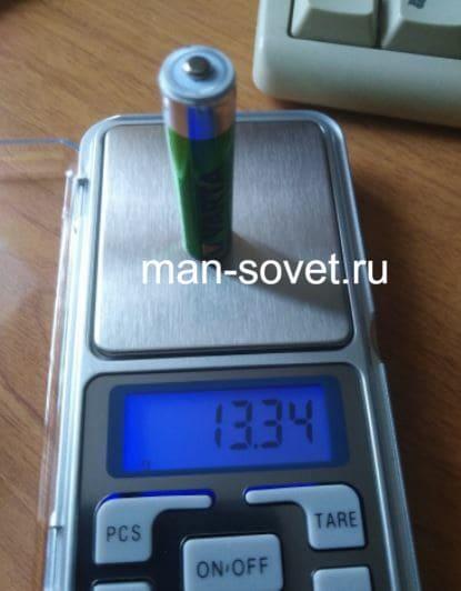 вес аккумулятора эталона