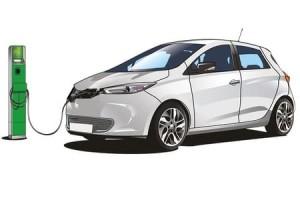 Машина на электрической зарядке