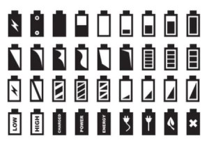 Разные уровни заряда батарей