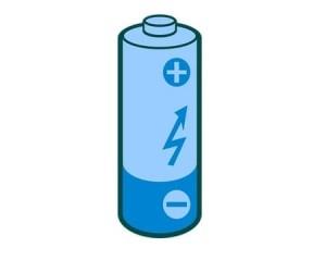 Синяя батарейка