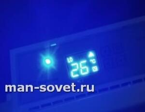 Дисплей Электролюкс ECH AS 1500ER ночью